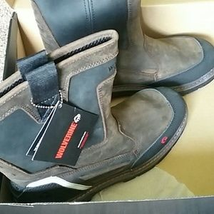 "New WOLVERINE OVERMAN NT 10"" WORK BOOTS. SIZE 12"